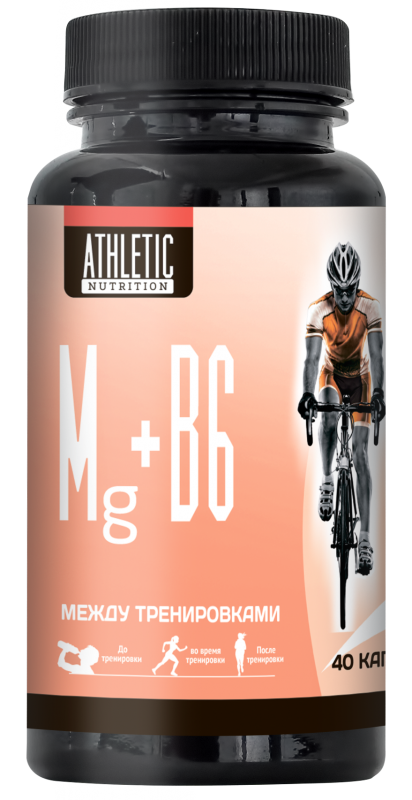 ATHLETIC NUTRITION Mg + B6 (40 капс.)