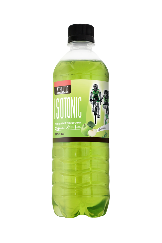 ATHLETIC NUTRITION ISOTONIC  яблоко (500 мл.)