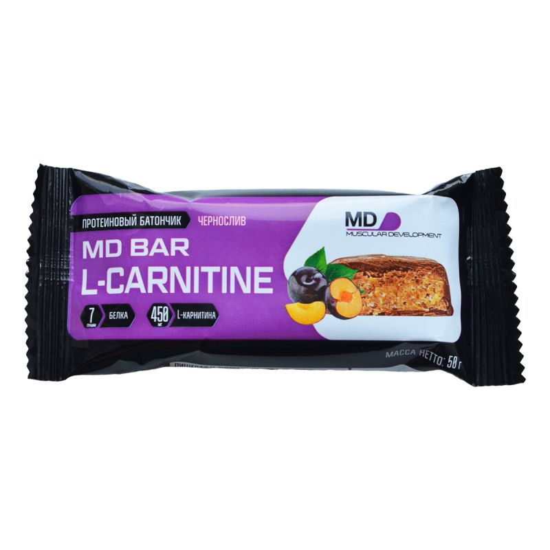 MD Bar L-Carnitine,3 вкуса, - шоколадный батончик с L-карнитином (Содержит 450 мг. L-карнитина)