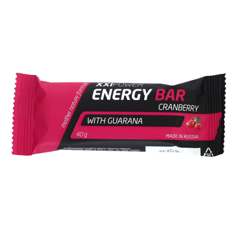 XXI Power Energy Bar клюква, 1 шт.