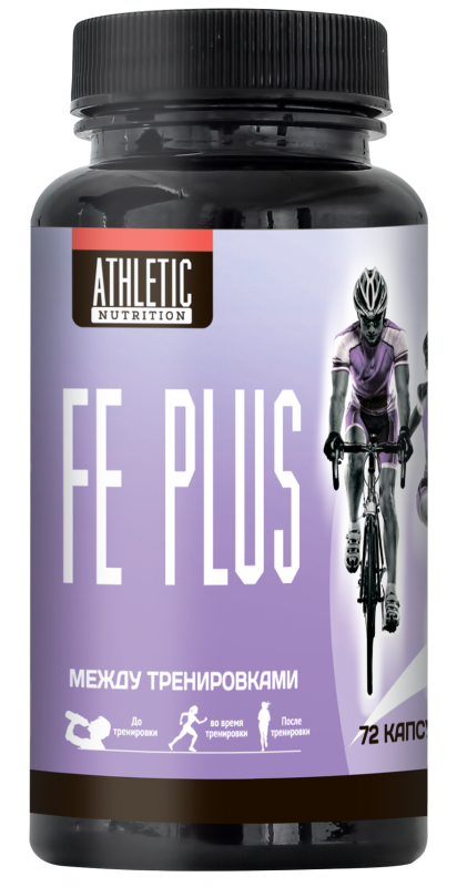 ATHLETIC NUTRITION Fe plus (72 капс.)